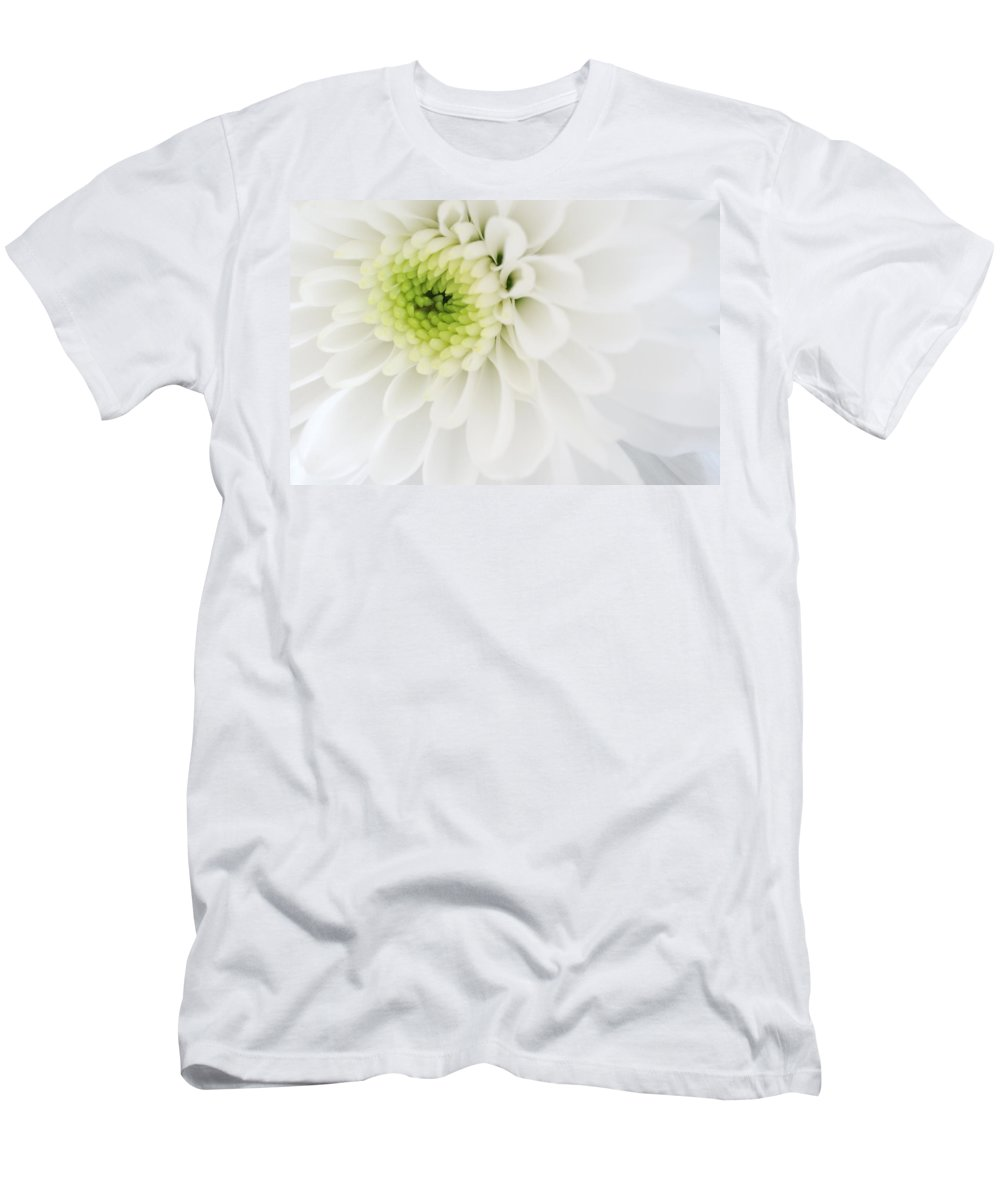 Chrysanthemum Men's T-Shirt (Athletic Fit) featuring the photograph Chrysanthemum by Jeremy Voisey