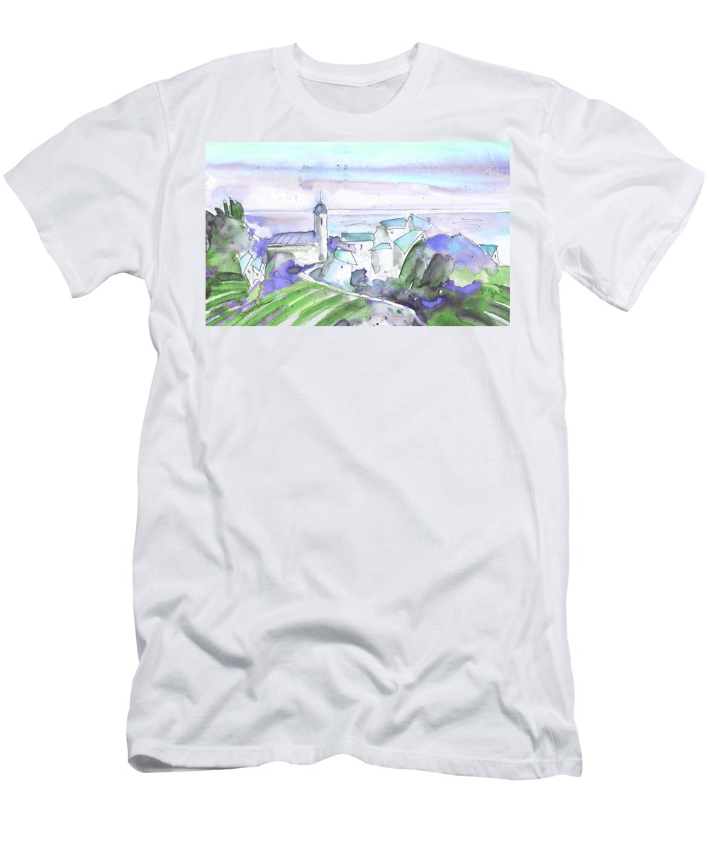 Italy Men's T-Shirt (Athletic Fit) featuring the painting Cinque Terre 04 by Miki De Goodaboom