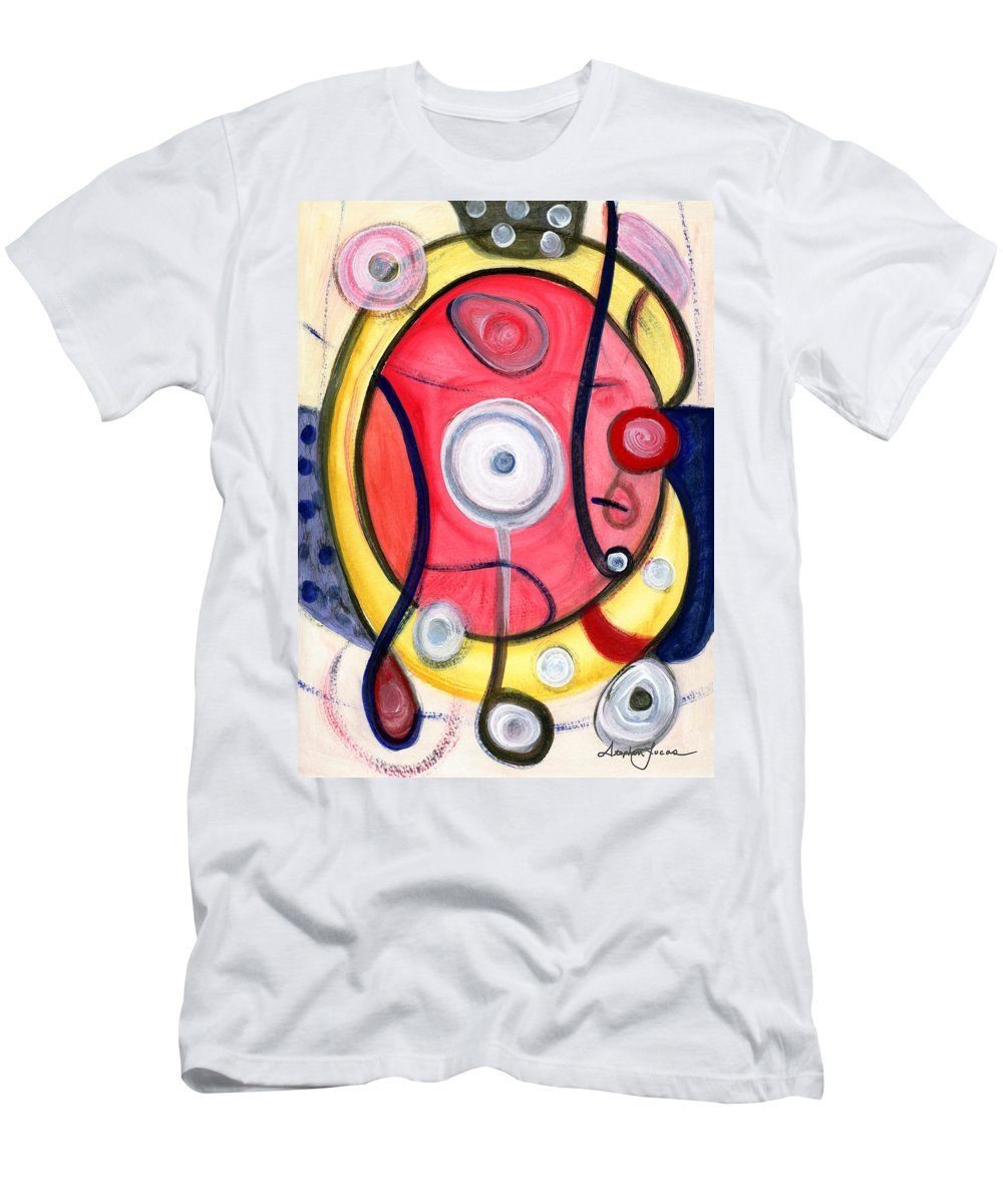 Abstract Art Men's T-Shirt (Athletic Fit) featuring the painting Circle For Lovers by Stephen Lucas