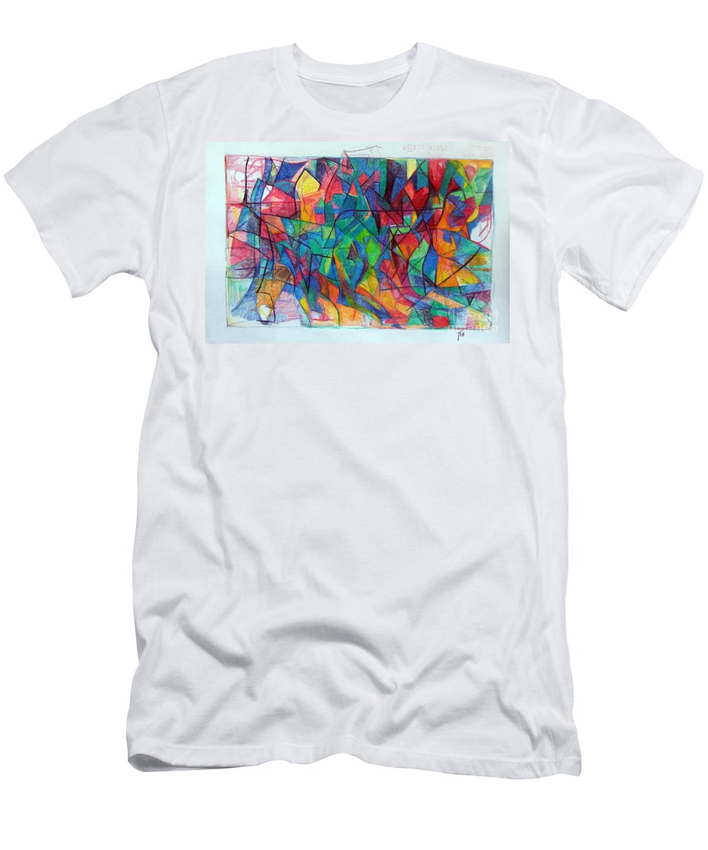 Torah Men's T-Shirt (Athletic Fit) featuring the drawing Clarification 5 by David Baruch Wolk