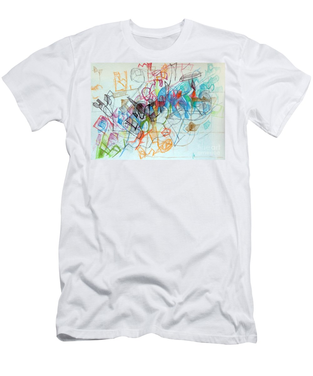 Torah Men's T-Shirt (Athletic Fit) featuring the drawing Clarification 7 by David Baruch Wolk