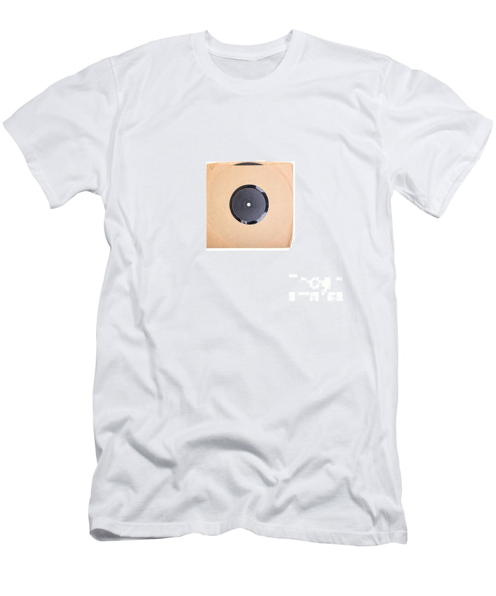 Original Men's T-Shirt (Athletic Fit) featuring the photograph Classic Vinyl Signed Mini by Edward Fielding