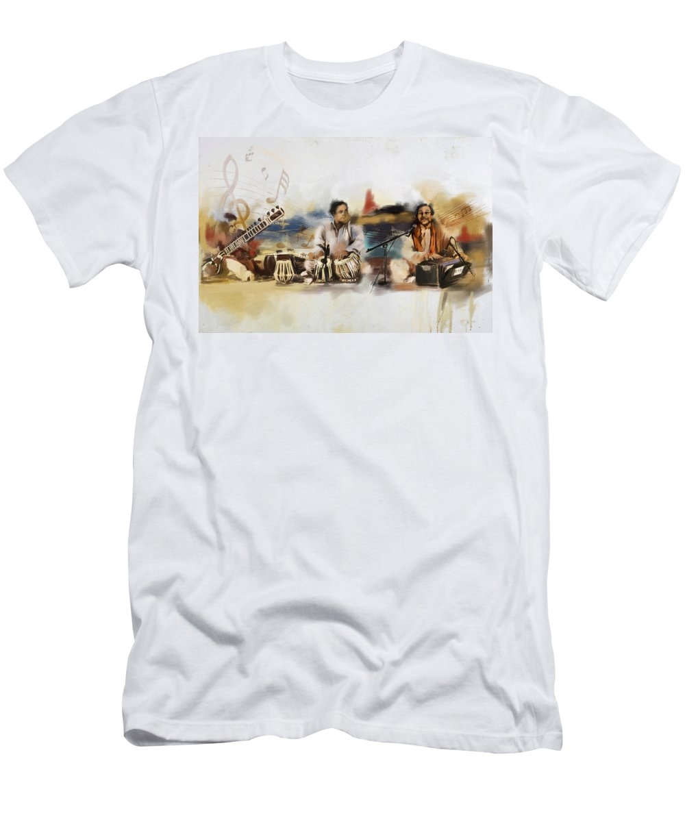 Dancer Men's T-Shirt (Athletic Fit) featuring the painting Classical Singers by Catf