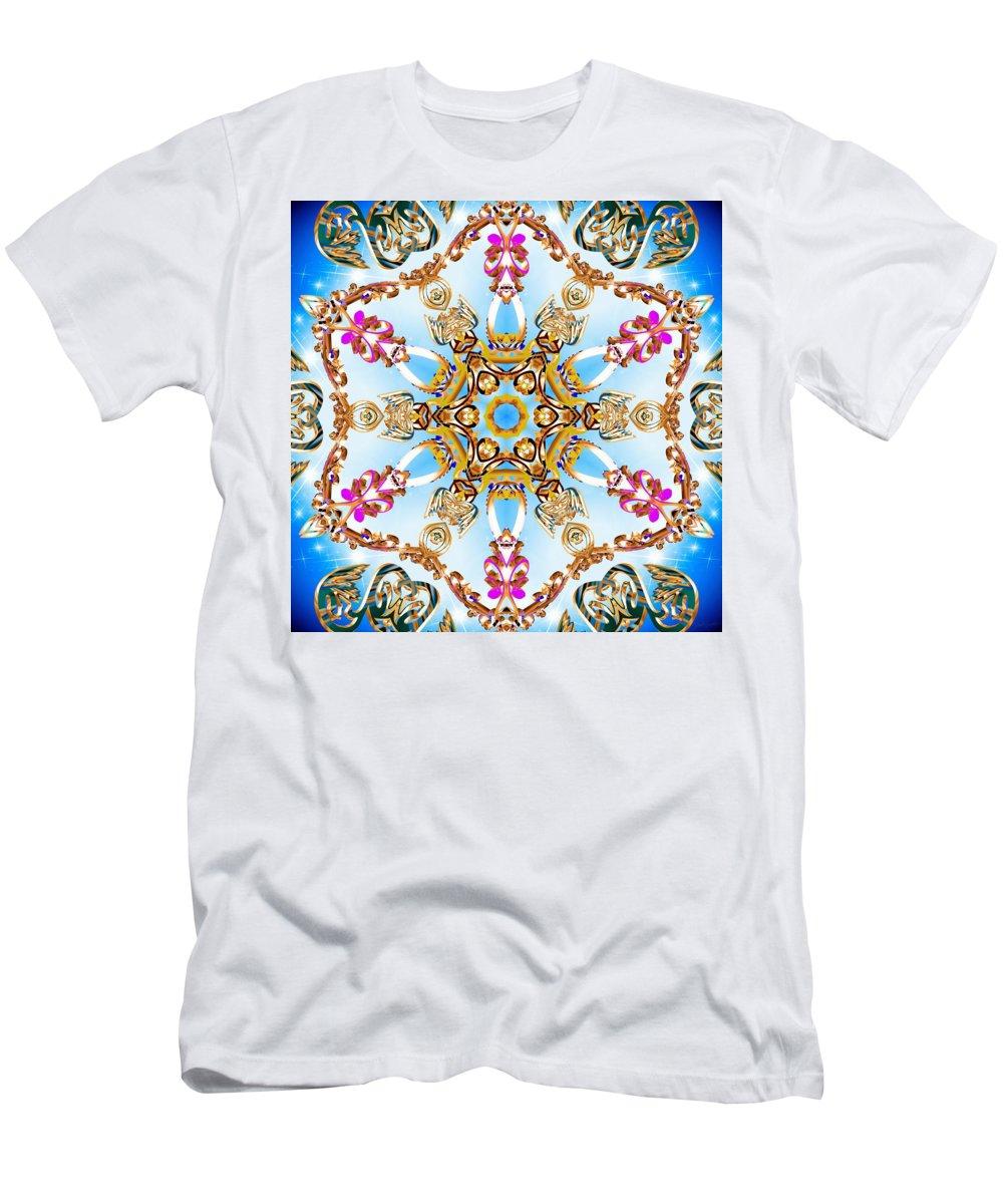 Sacredlife Mandalas Men's T-Shirt (Athletic Fit) featuring the digital art Cloud Walker by Derek Gedney