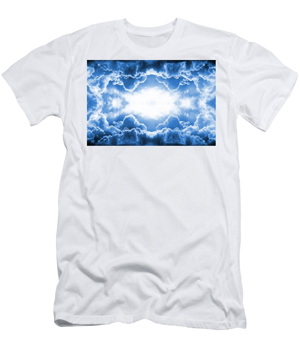 Moody Men's T-Shirt (Athletic Fit) featuring the digital art Clouds by Steve Ball