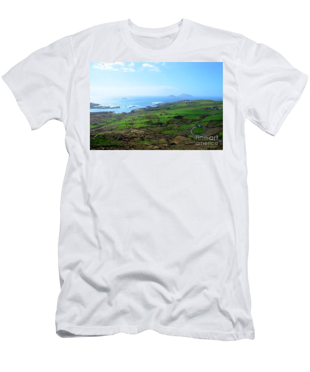 Irish Men's T-Shirt (Athletic Fit) featuring the photograph Coastal Ireland by DejaVu Designs