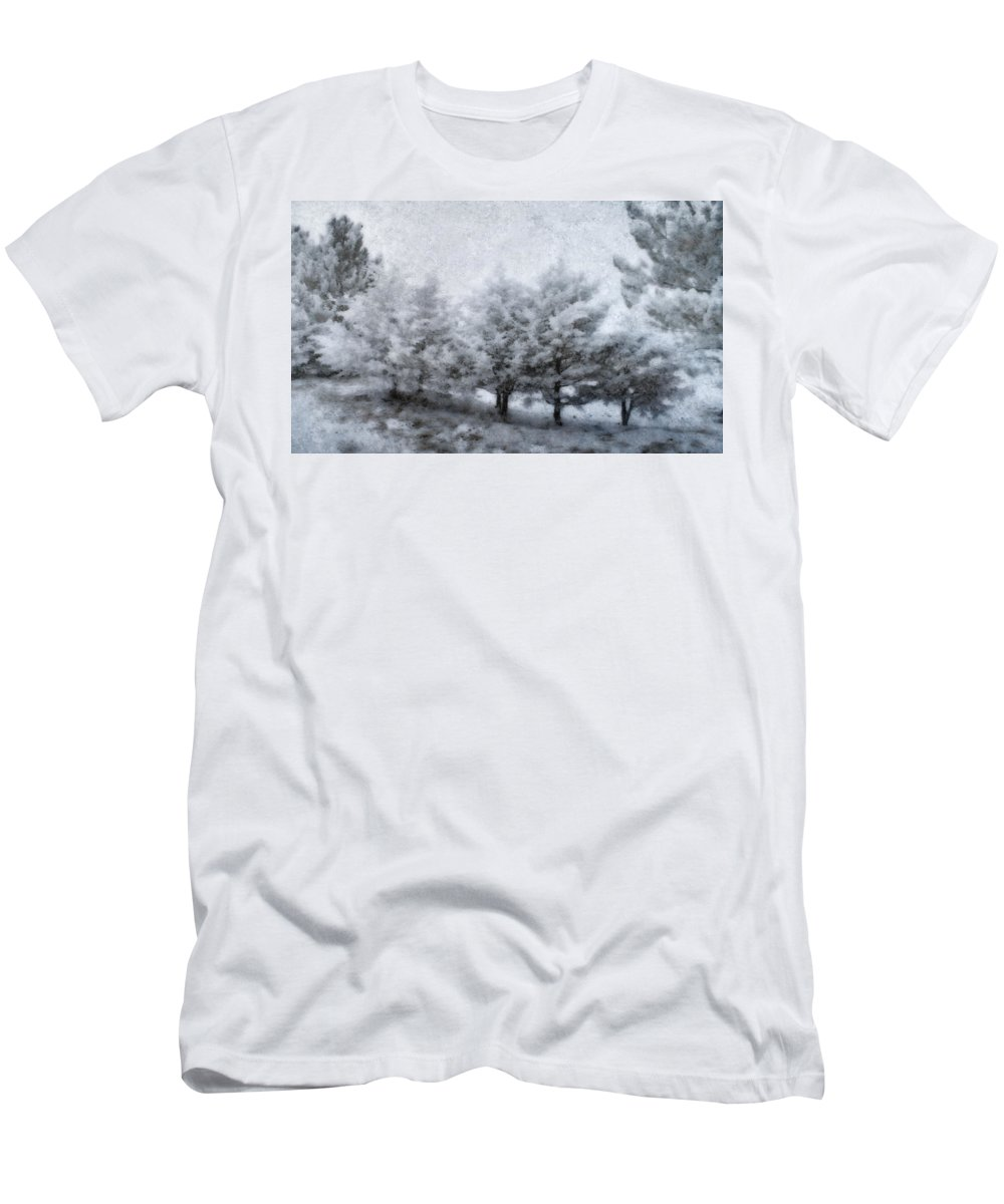 Weather Men's T-Shirt (Athletic Fit) featuring the photograph Cold Spell by Ellen Heaverlo