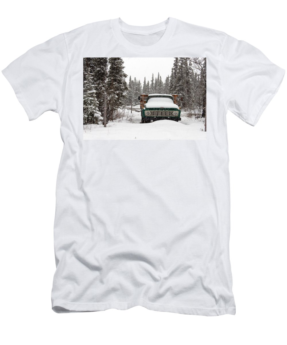 Truck Men's T-Shirt (Athletic Fit) featuring the photograph Cold Storage by Thomas Sellberg