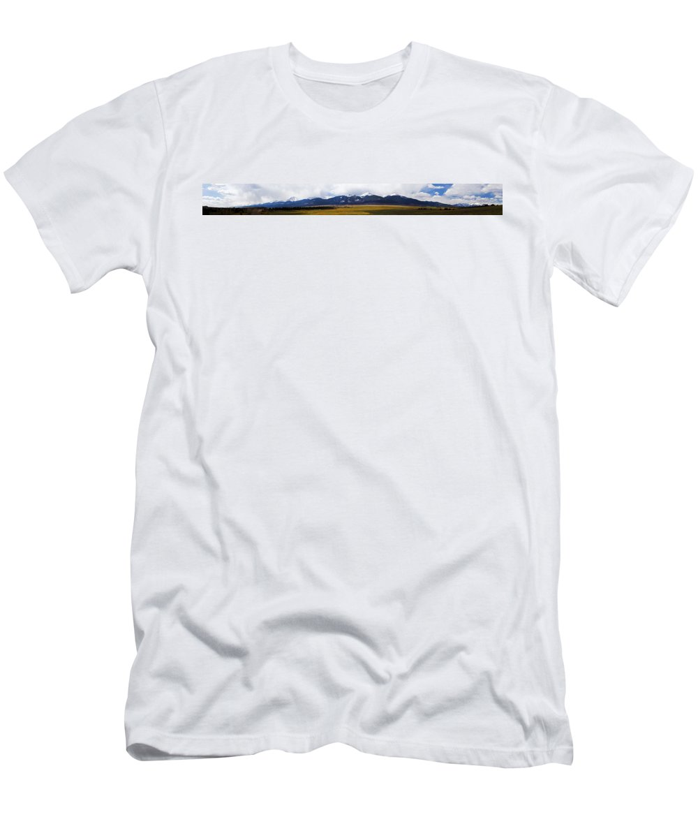 Colorado Rockies Panorama Men's T-Shirt (Athletic Fit) featuring the photograph Colorado Rockies Panorama by Greg Reed