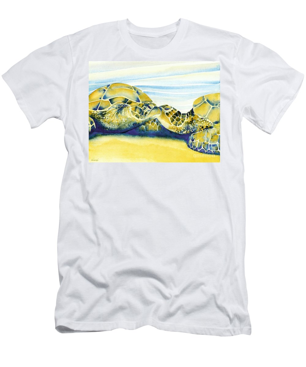 Nature Men's T-Shirt (Athletic Fit) featuring the painting Companions by Frances Ku