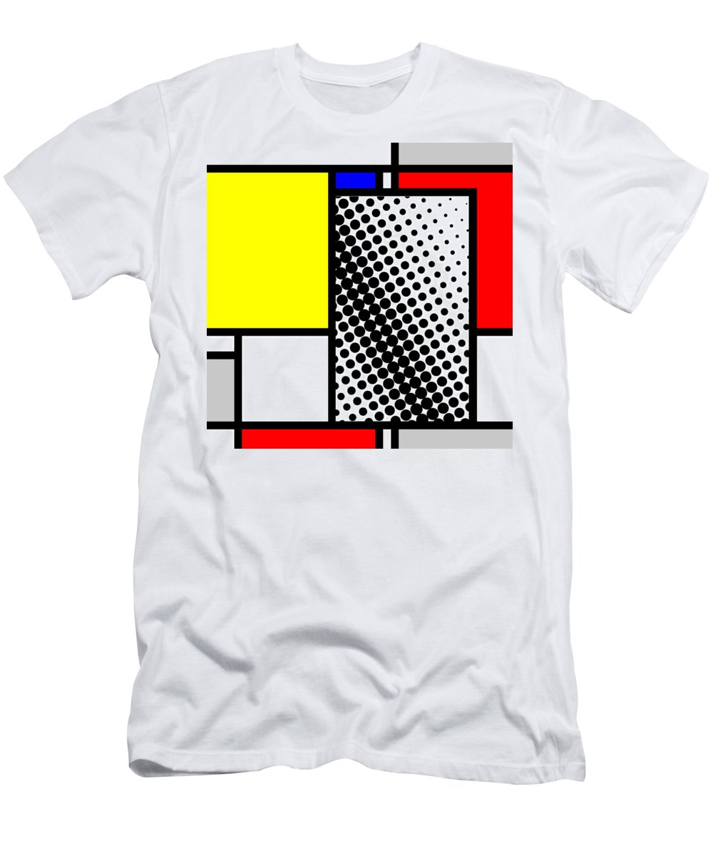 Mondrian Men's T-Shirt (Athletic Fit) featuring the mixed media Composition 116 by Dominic Piperata