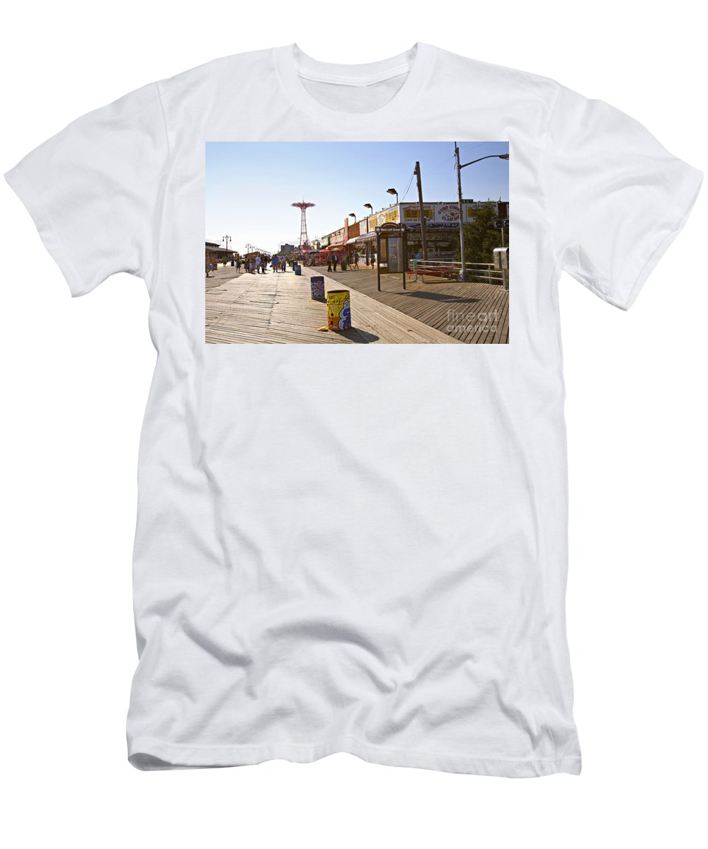 Coney Island Men's T-Shirt (Athletic Fit) featuring the photograph Coney Island Memories 8 by Madeline Ellis