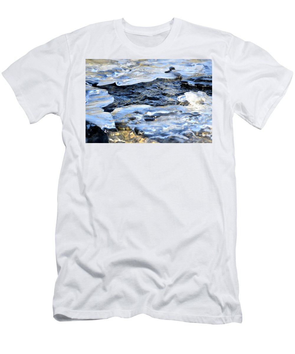 Water Men's T-Shirt (Athletic Fit) featuring the photograph Cool Waters by Bonfire Photography