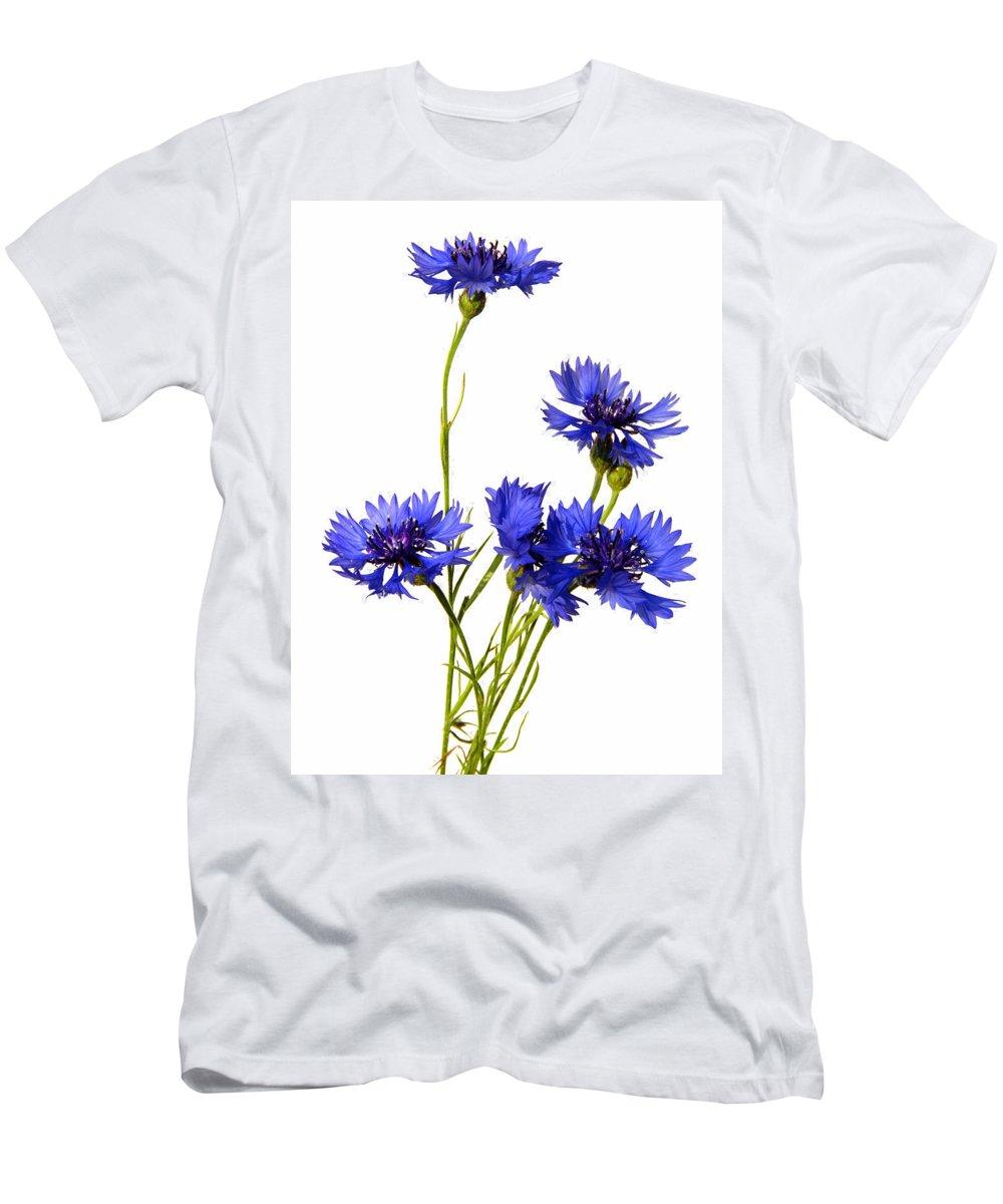 Centaurea Men's T-Shirt (Athletic Fit) featuring the photograph Cornflowers by TouTouke A Y