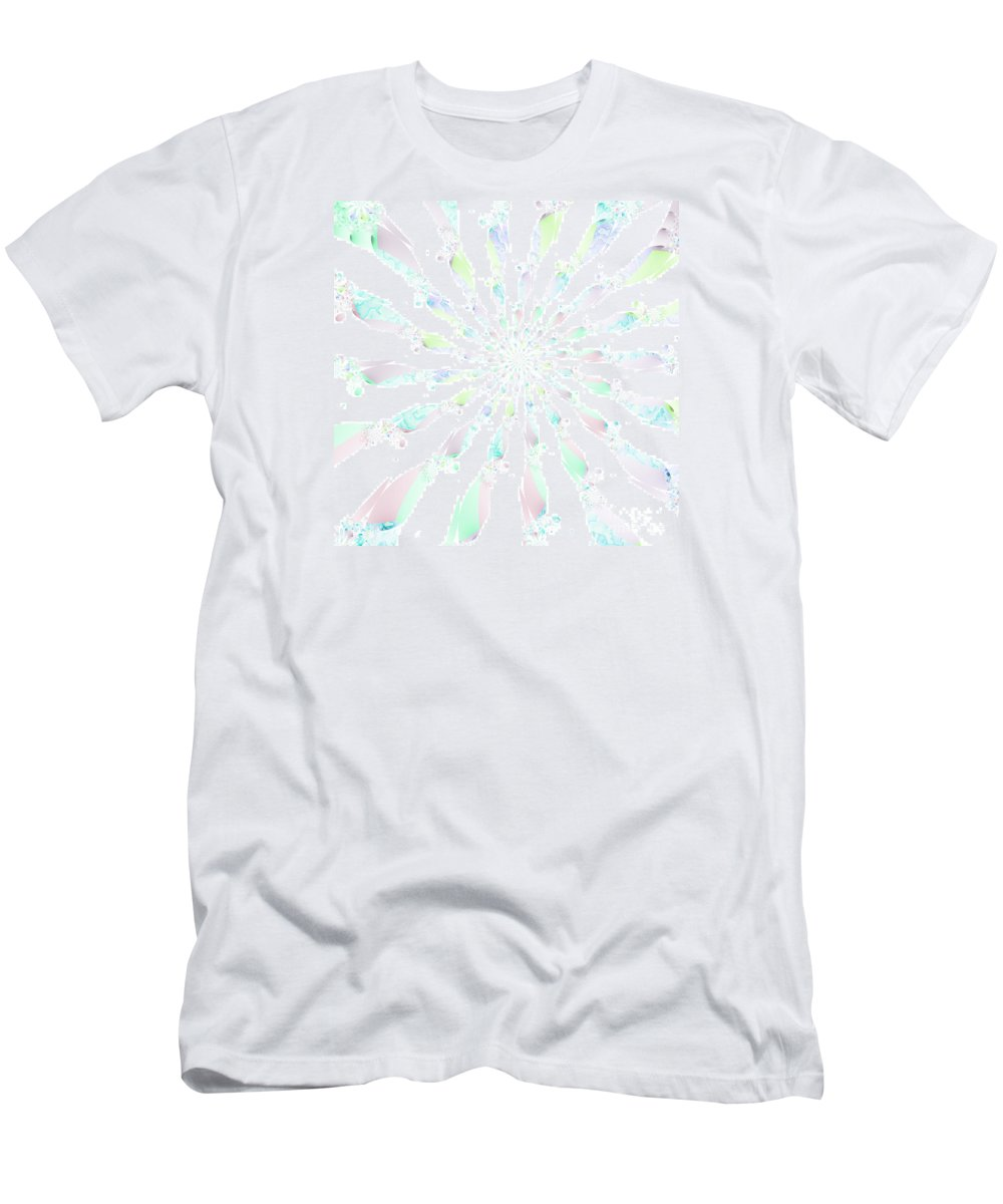 Cotton Candy V Men's T-Shirt (Athletic Fit) featuring the digital art Cotton Candy V by Kimberly Hansen