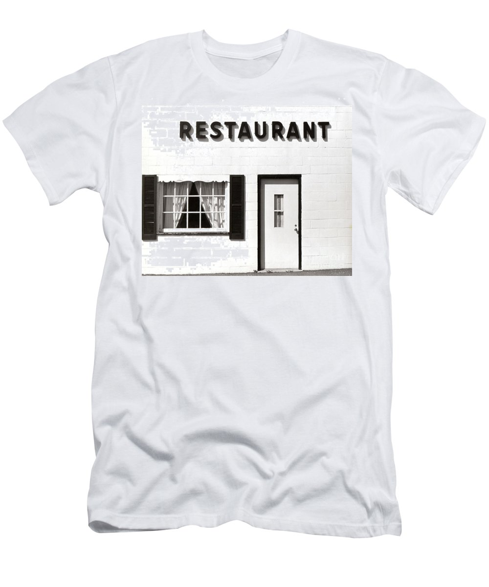 Restaurant Men's T-Shirt (Athletic Fit) featuring the photograph Country Restaurant by Thomas Marchessault