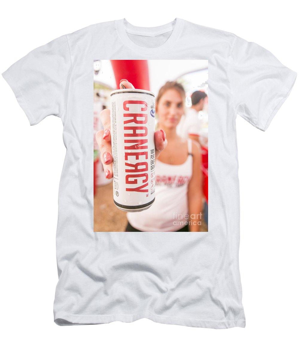 Cranergy Men's T-Shirt (Athletic Fit) featuring the photograph Cranberry Energy Juice by Sv