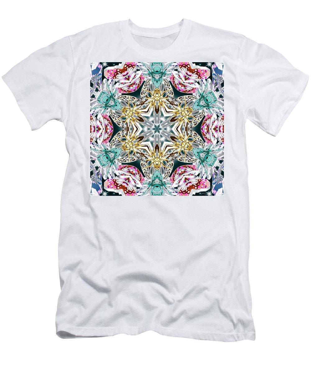 Sacredlife Mandalas Men's T-Shirt (Athletic Fit) featuring the digital art Crystal Mystery by Derek Gedney