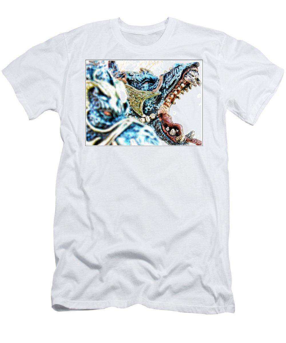 Hcs Nls Hcns Ohdz Men's T-Shirt (Athletic Fit) featuring the photograph Da Dragon Comic IIacd by Omar Hernandez