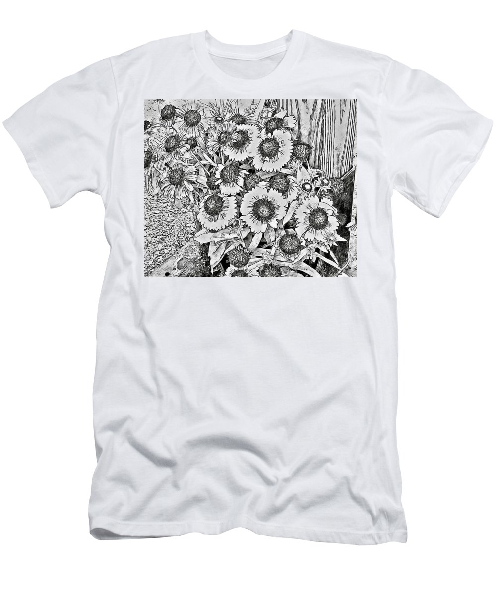 Daisies Men's T-Shirt (Athletic Fit) featuring the photograph Daisies In Relief by Alice Gipson