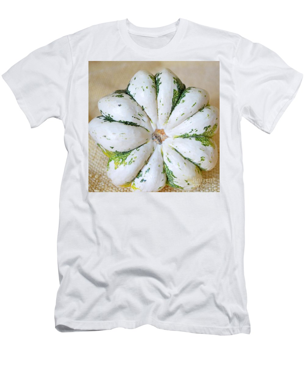 Gourd Men's T-Shirt (Athletic Fit) featuring the photograph Daisy Gourd by Mary Deal
