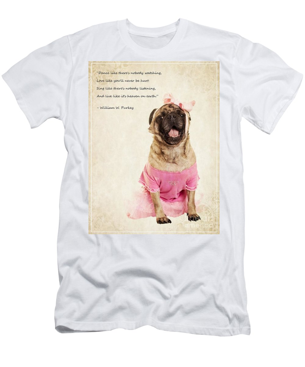 Dance Men's T-Shirt (Athletic Fit) featuring the photograph Dance Like There's Nobody Watching by Edward Fielding