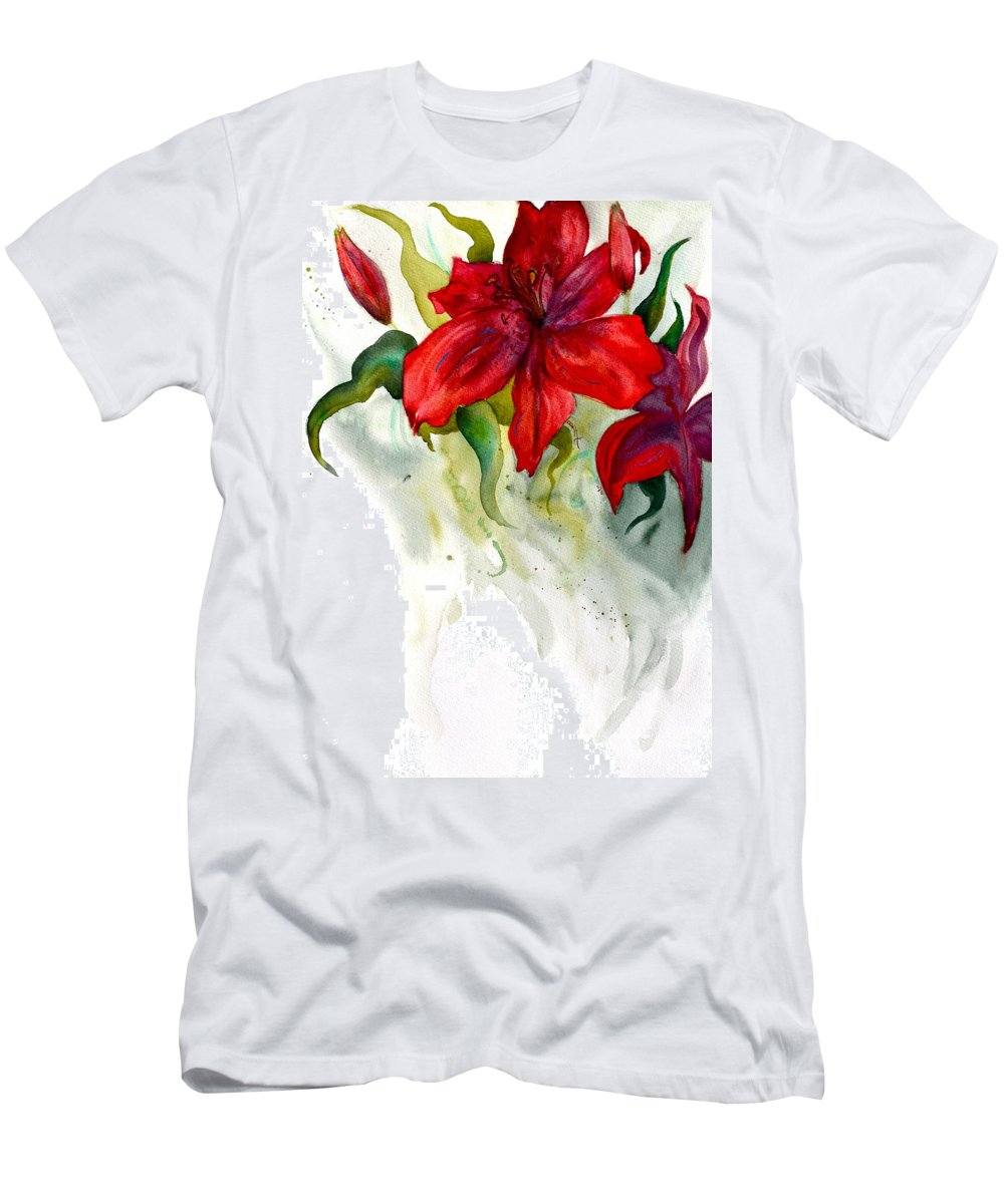 Dark Stars Men's T-Shirt (Athletic Fit) featuring the painting Dark Stars by Beverley Harper Tinsley
