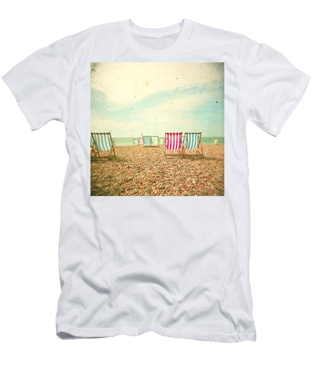 Landscape T-Shirt featuring the photograph Deckchairs by Cassia Beck