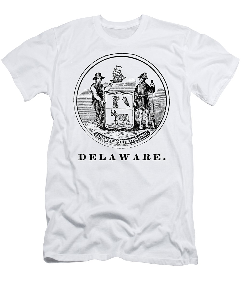 18th Century Men's T-Shirt (Athletic Fit) featuring the photograph Delaware State Seal by Granger