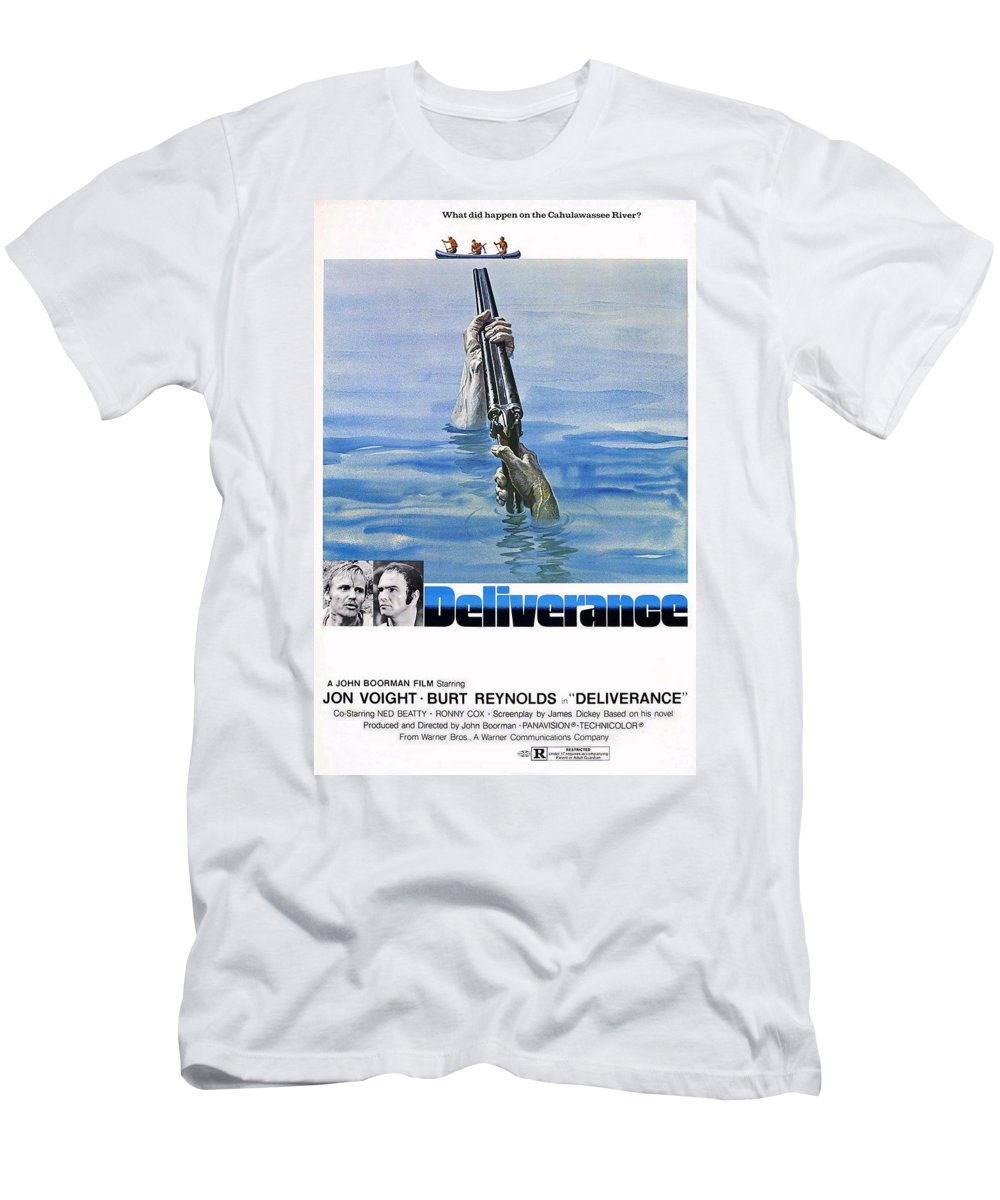 Deliverance Men's T-Shirt (Athletic Fit) featuring the photograph Deliverance by Movie Poster Prints