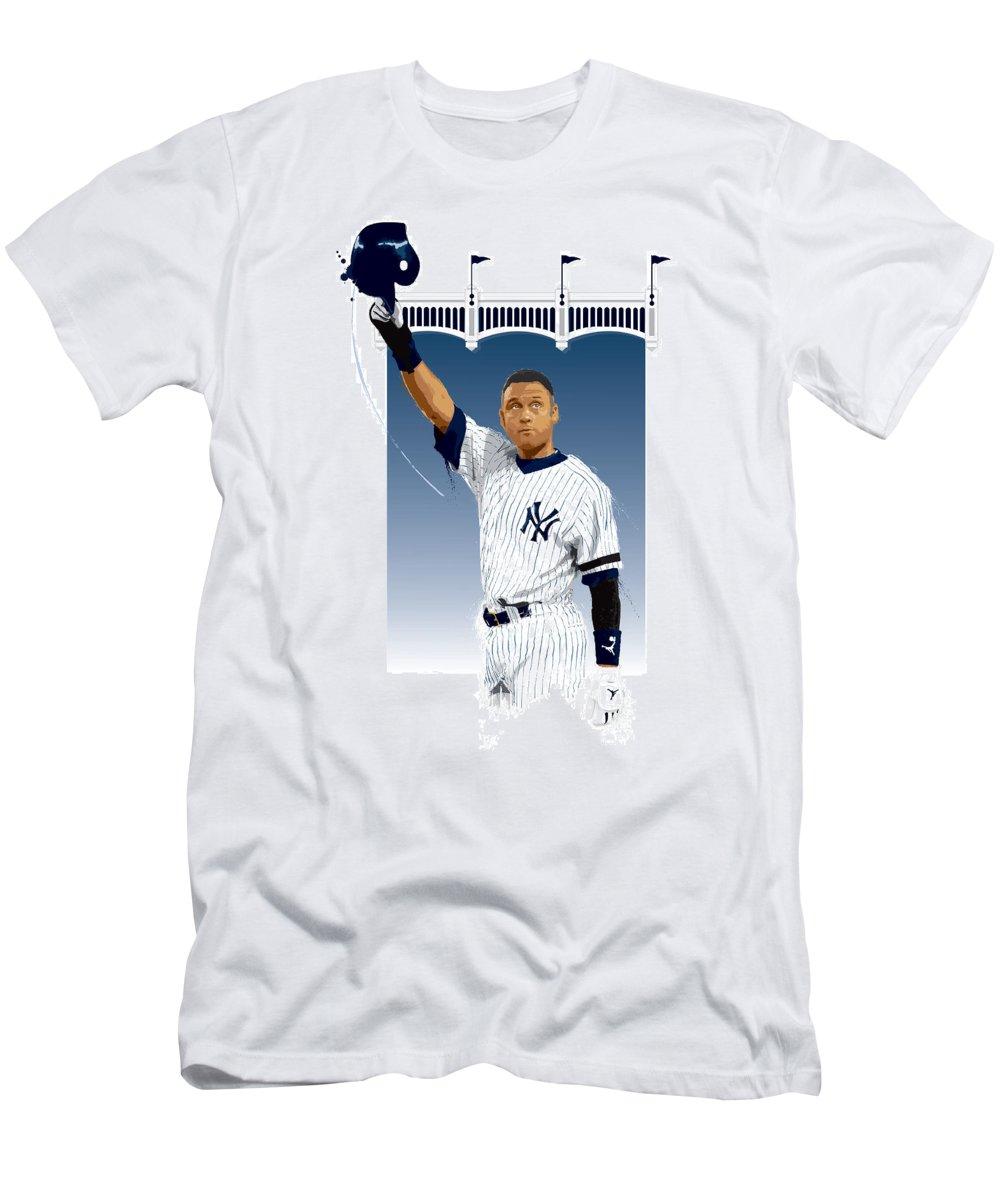 5a2c89a95 Derek Jeter Men's T-Shirt (Athletic Fit) featuring the digital art Derek  Jeter