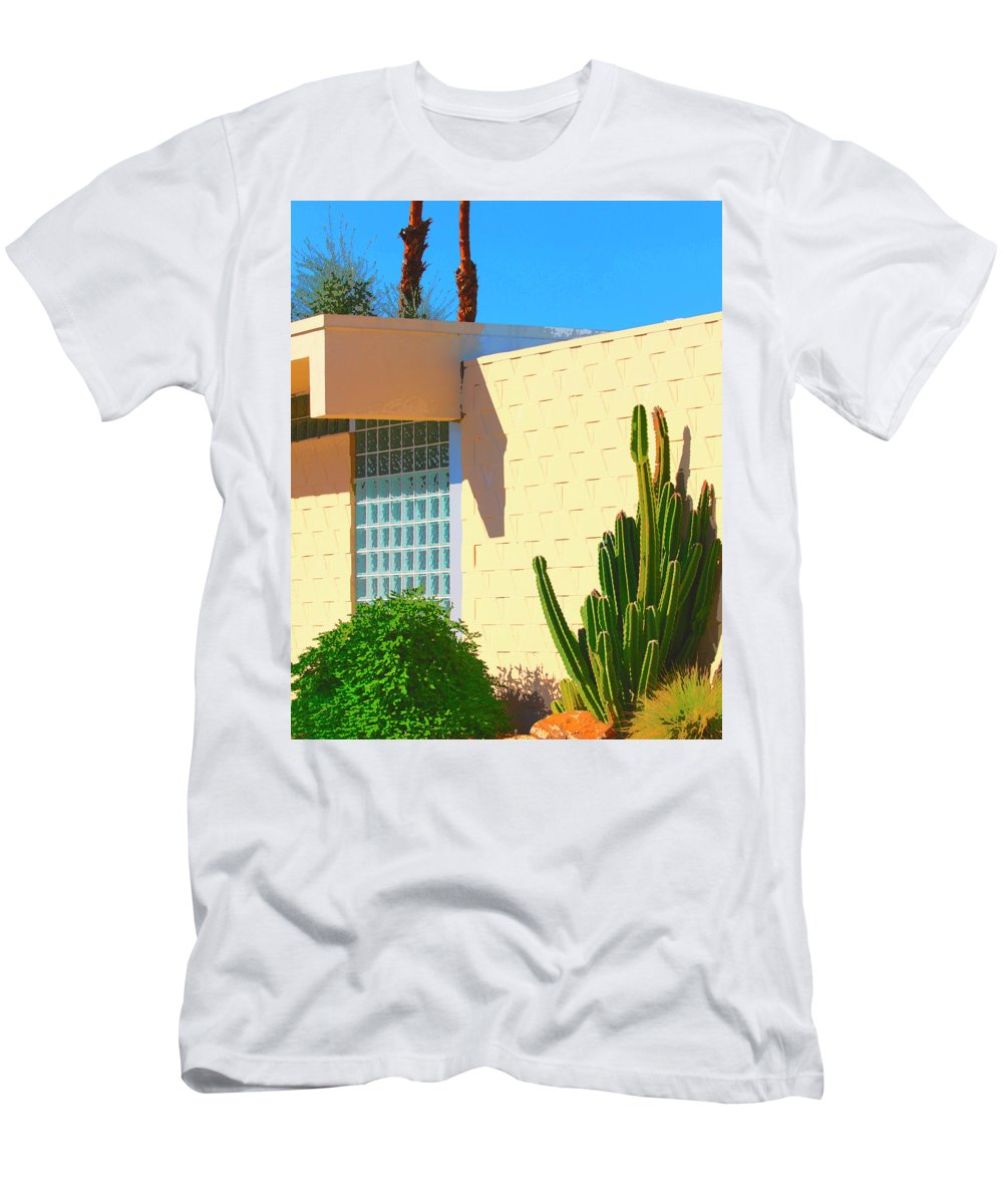 7 Lakes Men's T-Shirt (Athletic Fit) featuring the photograph Desert Modern 7 Lakes Palm Springs by William Dey