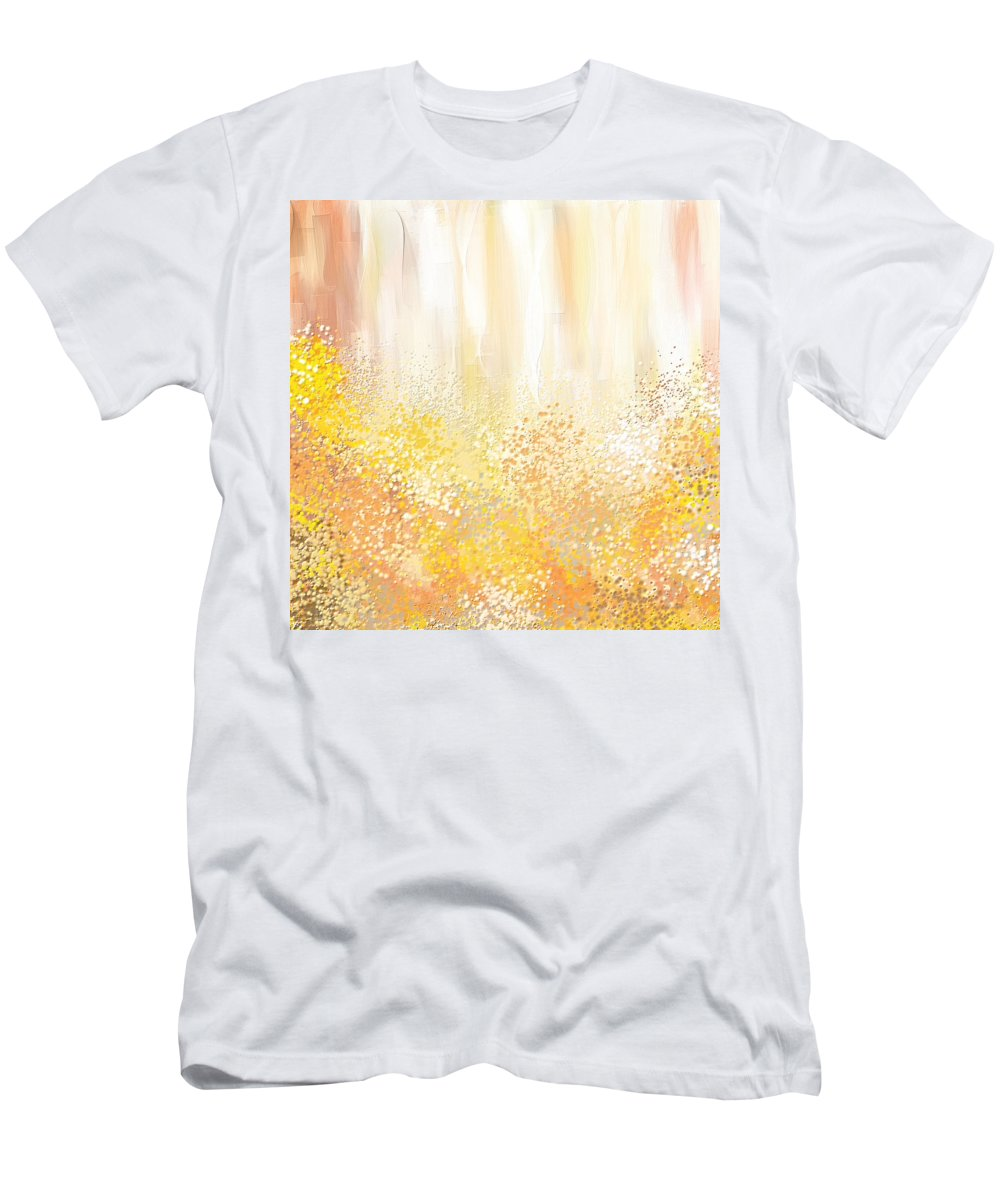 Peach Men's T-Shirt (Athletic Fit) featuring the painting Desirous by Lourry Legarde