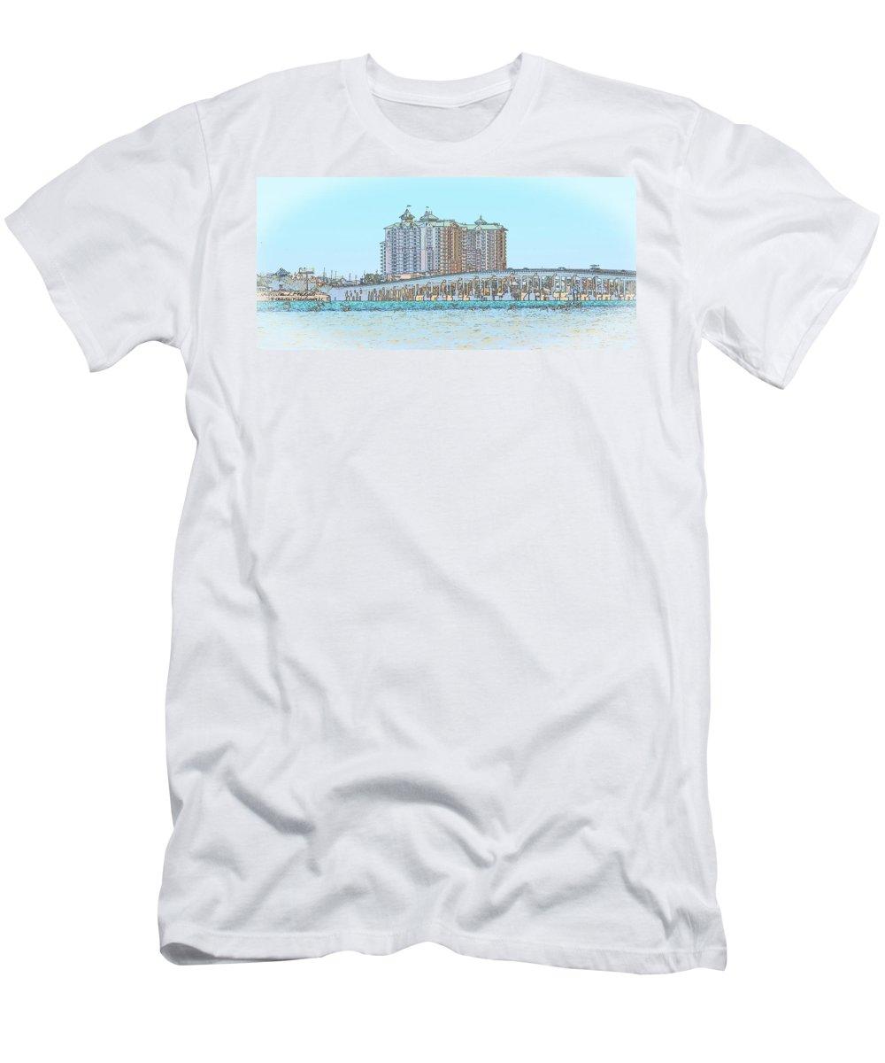 Canvas Men's T-Shirt (Athletic Fit) featuring the digital art Destin Emerald Grand S1 by Mark Olshefski