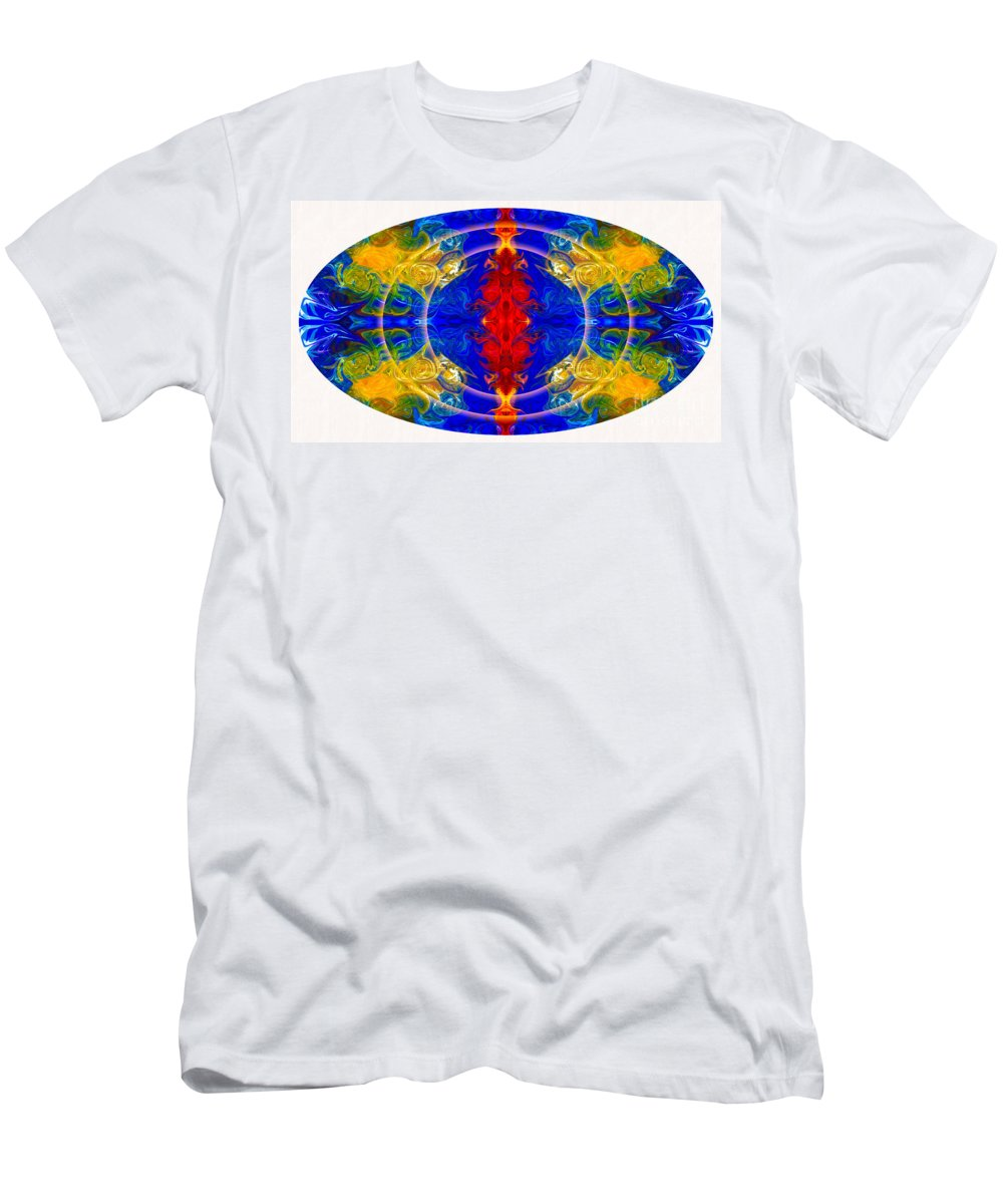 16x9 Men's T-Shirt (Athletic Fit) featuring the digital art Dimensional Eyesight Abstract Living Artwork By Omaste Witkowski by Omaste Witkowski