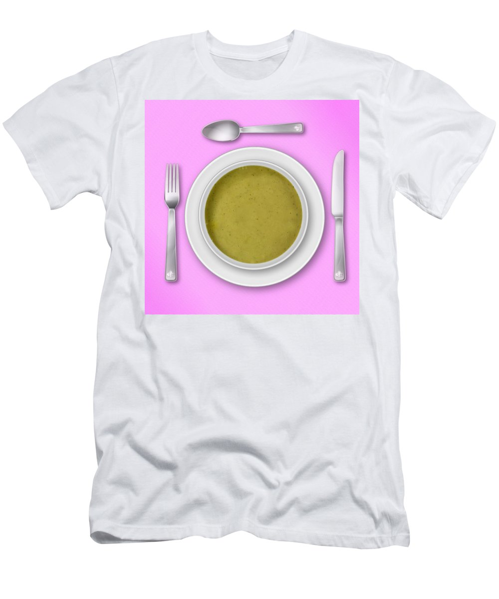 Pink Men's T-Shirt (Athletic Fit) featuring the photograph Dinner Setting 03 by Jo Roderick