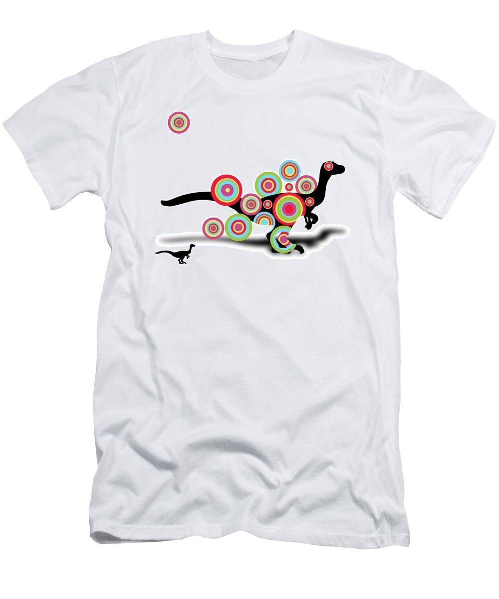 Dinosaur Men's T-Shirt (Athletic Fit) featuring the digital art Dinosaur 2 by Mark Ashkenazi