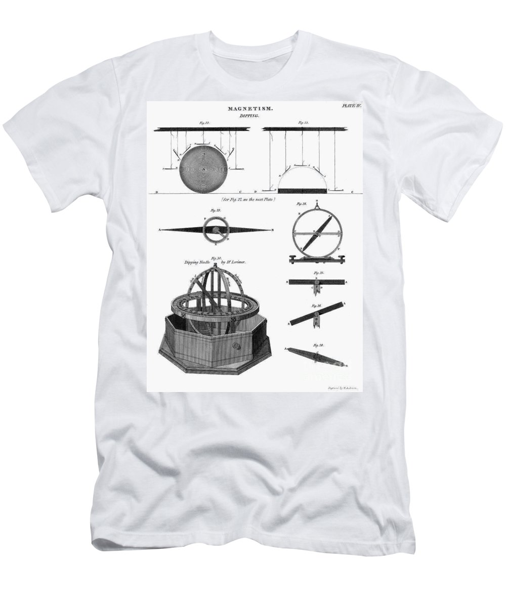 1764 Men's T-Shirt (Athletic Fit) featuring the photograph Dipping Needle Compass by Granger