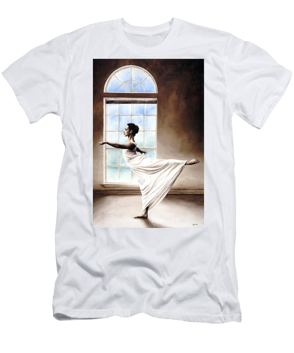 Dance Men's T-Shirt (Athletic Fit) featuring the painting Divine Grace by Richard Young