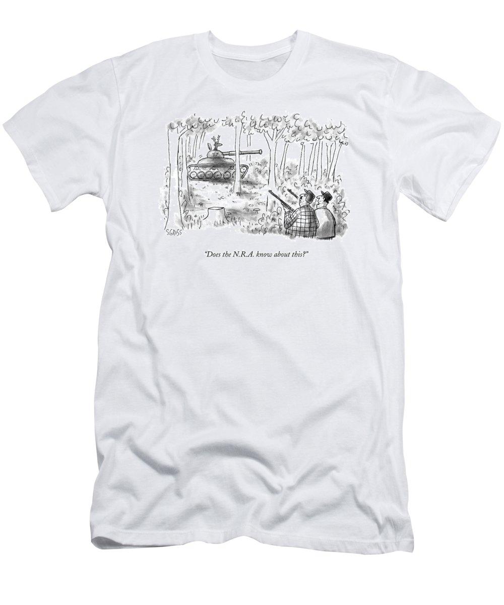 cf5c34d5 Does The N.r.a. Know About This? T-Shirt for Sale by Sam Gross