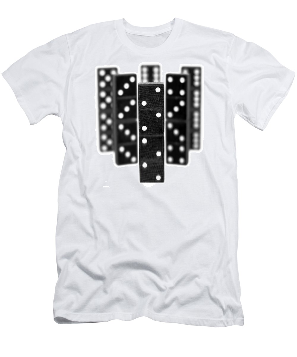 Domino Men's T-Shirt (Athletic Fit) featuring the photograph Dominoes by Gordon Dean II