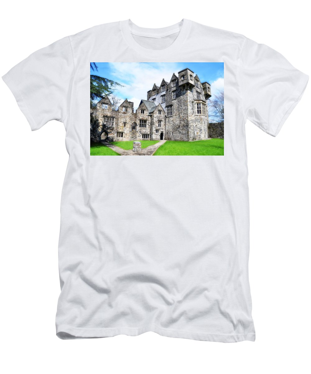 Donegal Men's T-Shirt (Athletic Fit) featuring the photograph Donegal Castle - Ireland by Bill Cannon