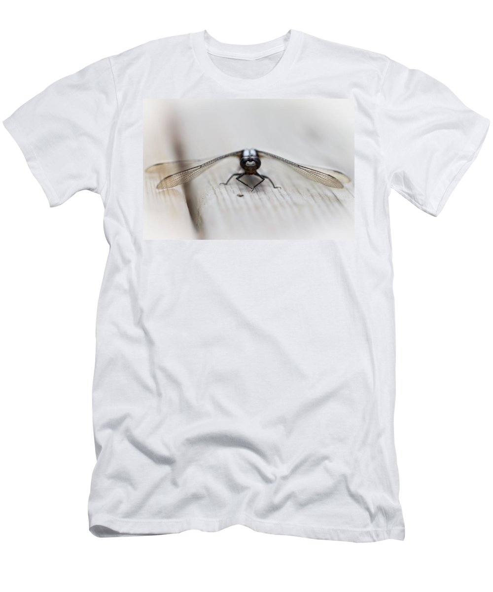 Animals Men's T-Shirt (Athletic Fit) featuring the photograph Dragonfly by Jakub Sisak