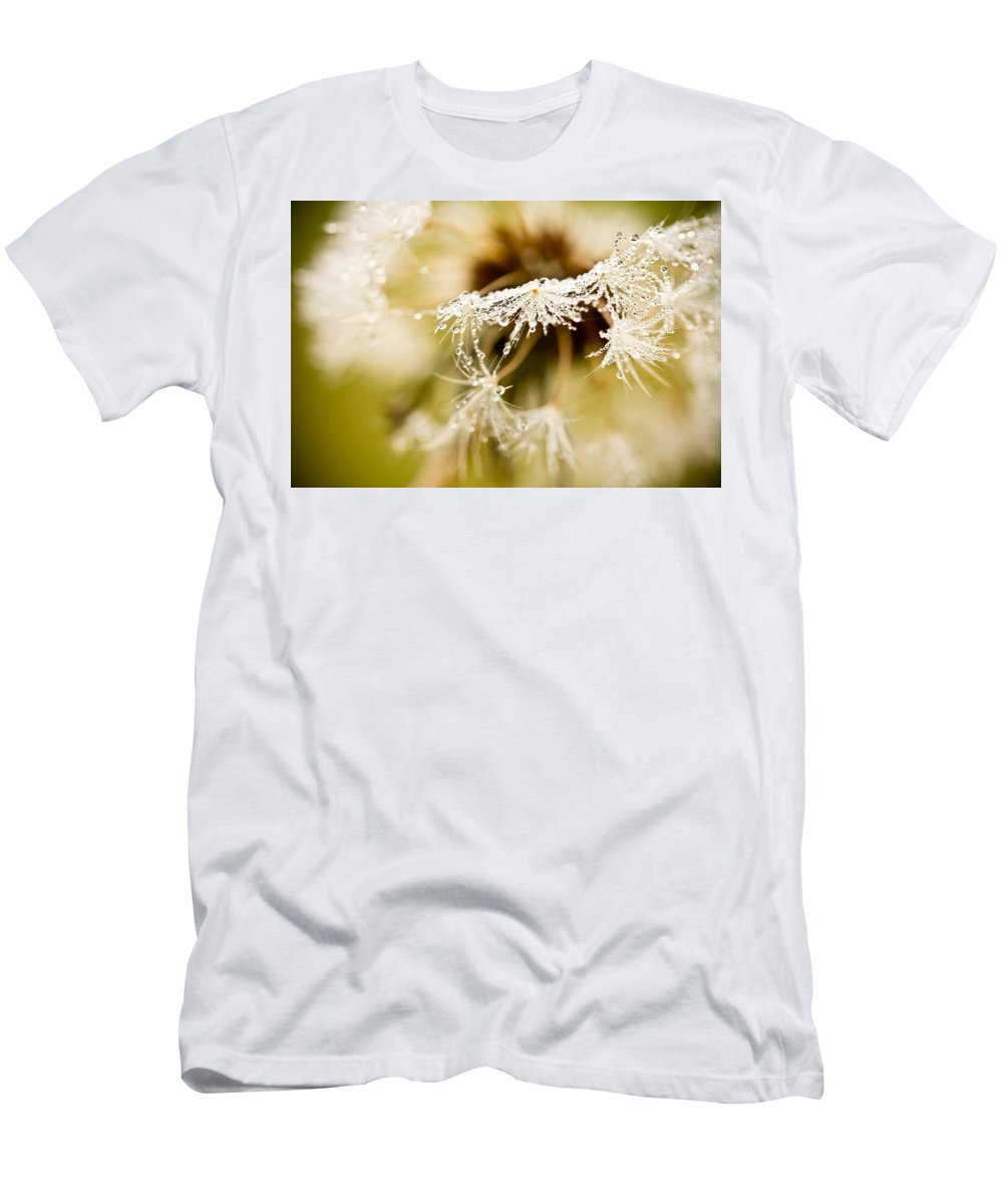 Dandelion Men's T-Shirt (Athletic Fit) featuring the photograph Dreamy Dandelion by Shane Holsclaw