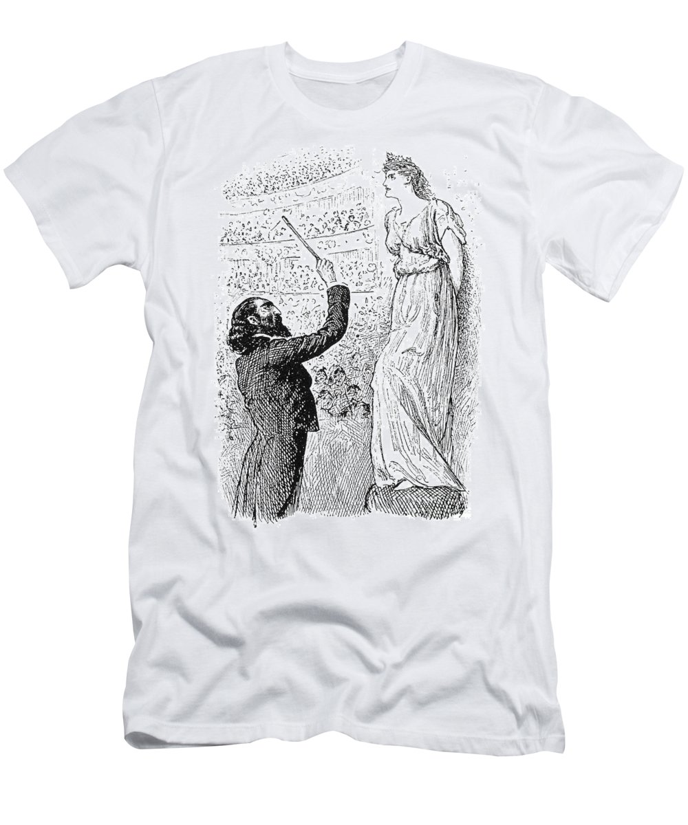 1894 Men's T-Shirt (Athletic Fit) featuring the photograph Du Maurier: Trilby, 1894 by Granger