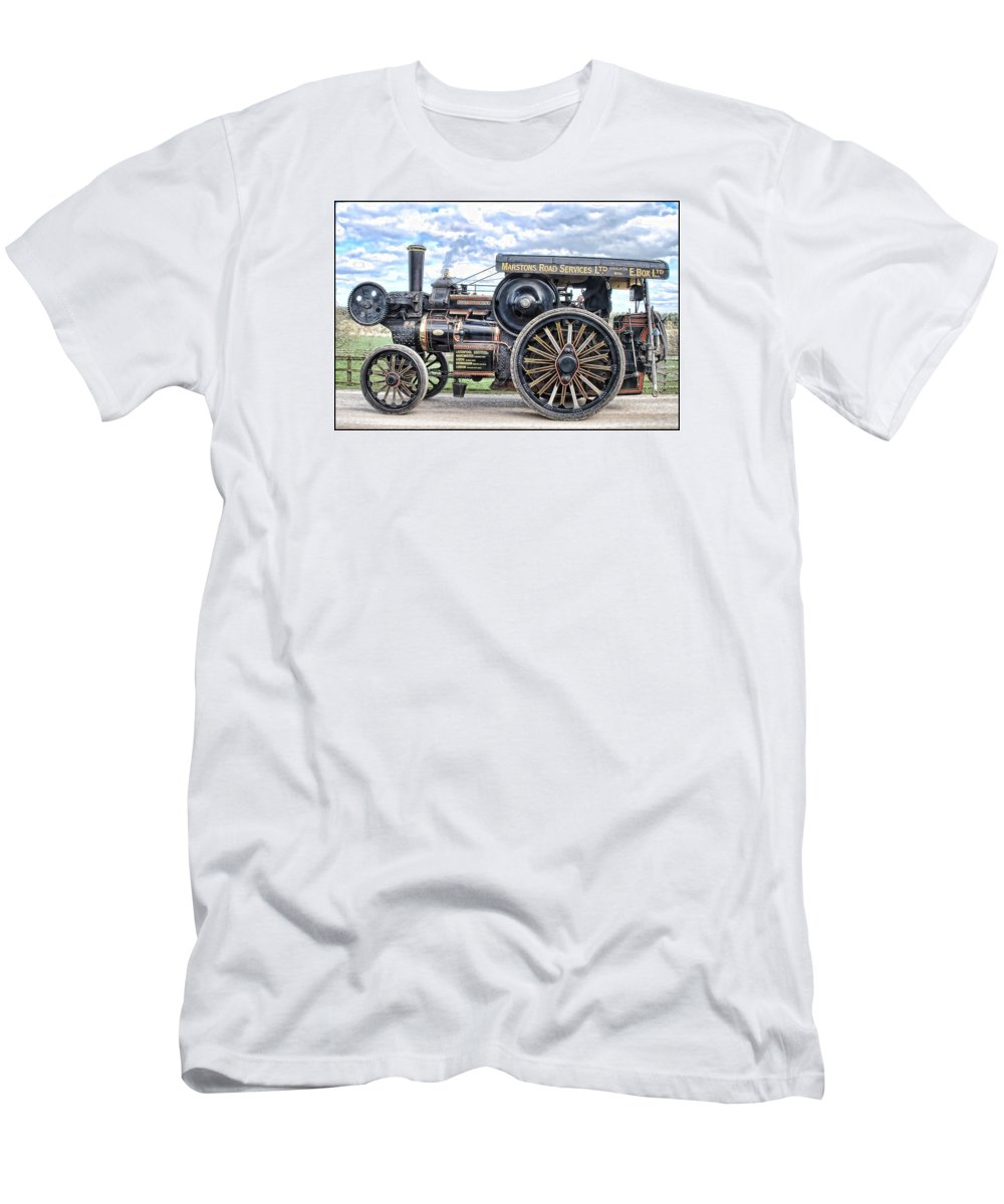Beamish Men's T-Shirt (Athletic Fit) featuring the digital art Duke Of York Traction Engine 4 by John Lynch