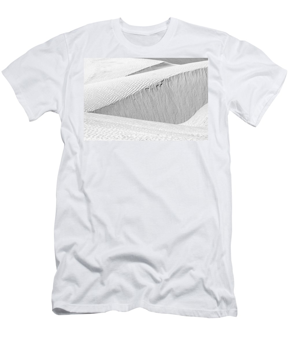 Abstract Men's T-Shirt (Athletic Fit) featuring the photograph Dune Abstract, Paryang, 2011 by Hitendra SINKAR