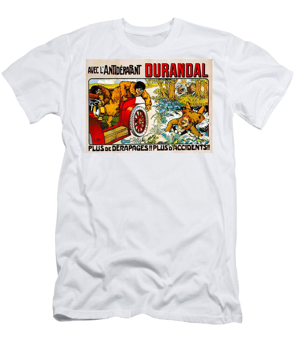 Vintage Automobile Ads And Posters Men's T-Shirt (Athletic Fit) featuring the photograph Durandal by Vintage Automobile Ads and Posters