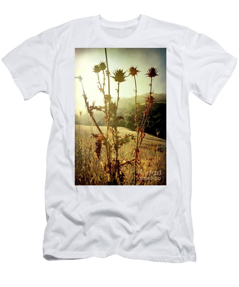 Weeds Men's T-Shirt (Athletic Fit) featuring the photograph Each New Day Is A Gift by Ellen Cotton