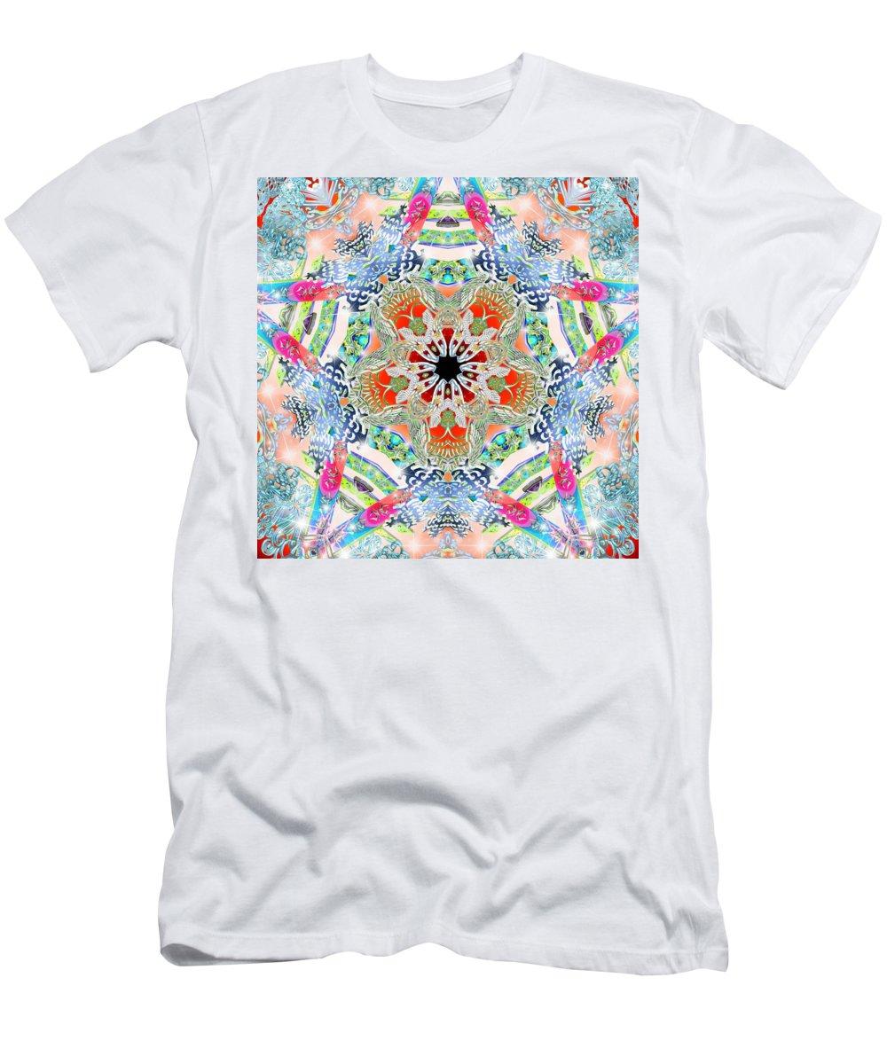 Sacredlife Mandalas Men's T-Shirt (Athletic Fit) featuring the digital art Eagles Flight by Derek Gedney